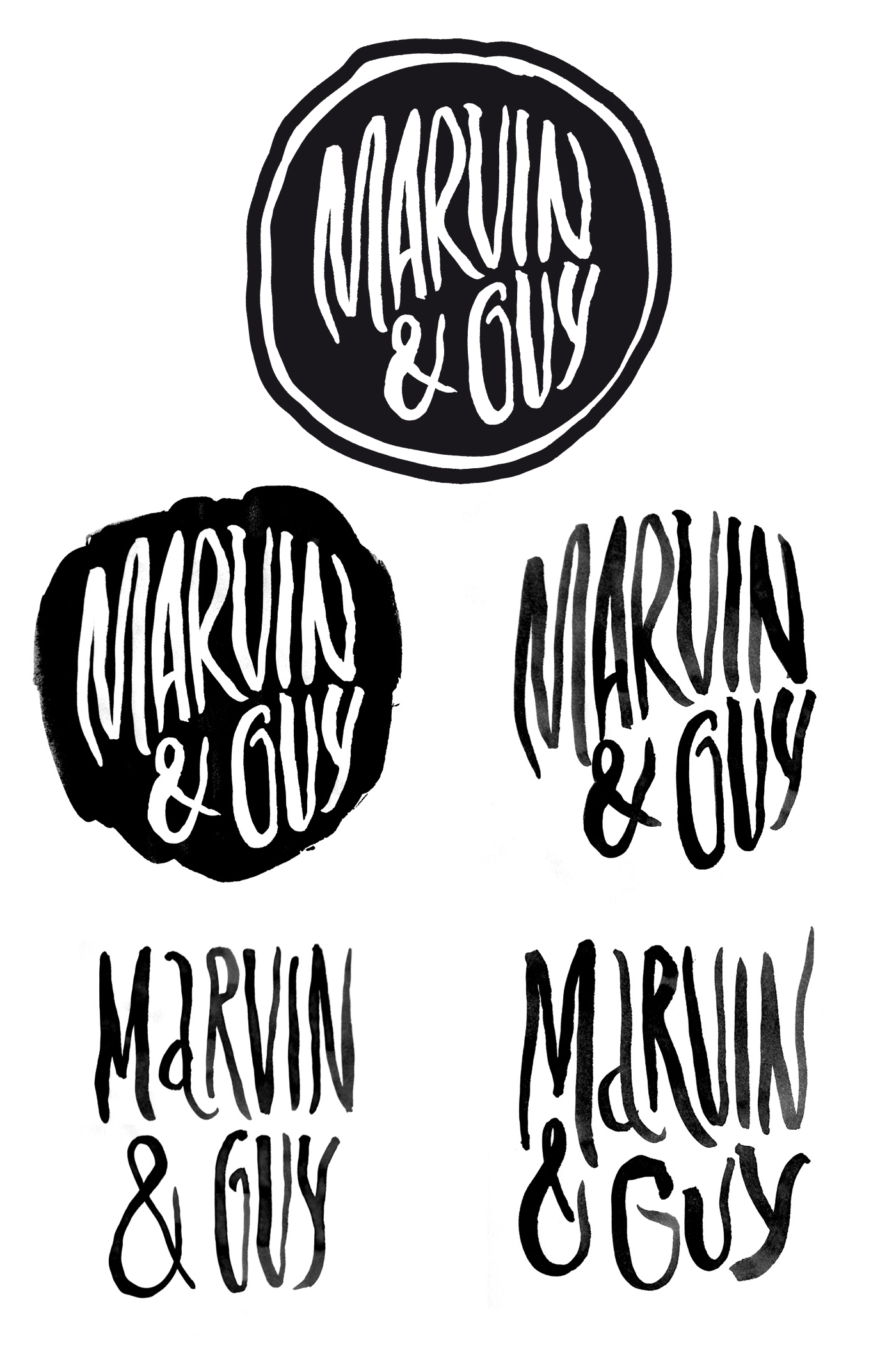 marvin&guy_logo_sketches